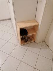 Schuhschrank offener Schrank