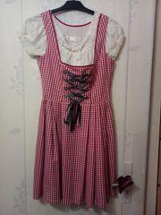 Dirndl Baumwollle pink-weiß Gr 36