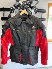 Lookwell Motorradjacke rot schwarz für