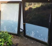 Holz Fenster 2 x 1m -