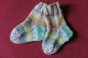 Socken Babysocken selbstgestrickt Gr 17