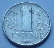 Münze DDR 1 Pfennig 1961