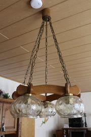 schöne Hängedeckenlampe Eiche rustikal