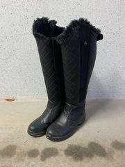 Winterreitstiefel schwarz Größe 39