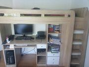 Hochbett mit Schreibtisch DRINGEND