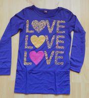 Longshirt Kurzkleidchen Gr 140 violett