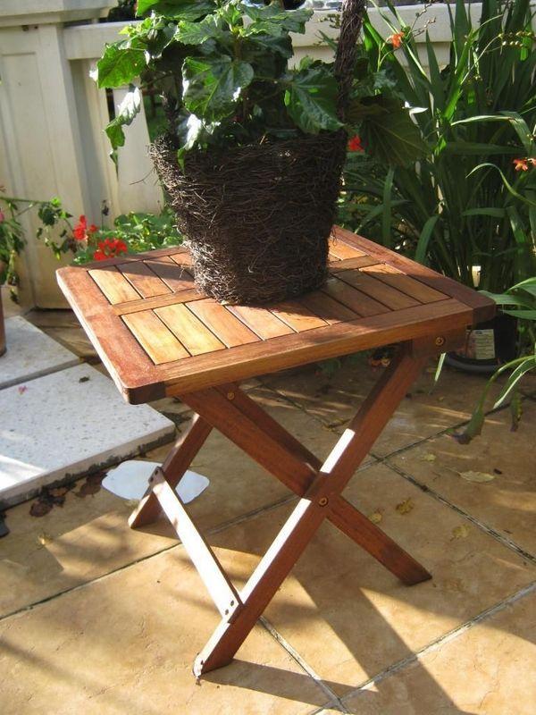 Beistelltisch Klapptisch Holz Tisch Gartentisch