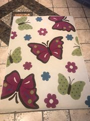 schöner Schmetterling Teppich