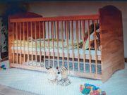 Babybett Gitterbett Kinderbett Buche massiv