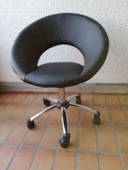 Bürodrehstuhl Kunstleder schwarz