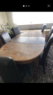 Esszimmertisch stabiler Tisch mit Stühlen