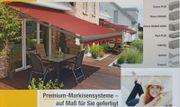 Markise Premium Markisensysteme Gelenkarm- Kassettenmarkisen