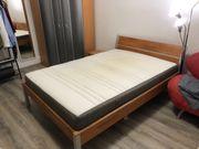 Bett Lattenrost Matratze - 140x200cm Nachtkästchen