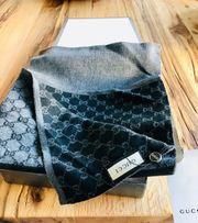 Gucci Schal Herren grau schwarz