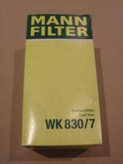 Kraftstofffilter Mann-Filter WK 830 7