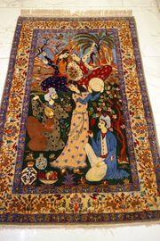 Handgeknüpft Perser Teppich Märchen Isfahan