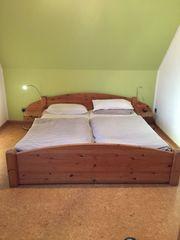 Doppelbett Kiefer geölt 1 80