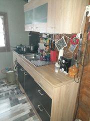 Küchenzeile Front Anthrazit
