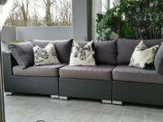 Lounge Gartenmöbel Rattan 3-teilig