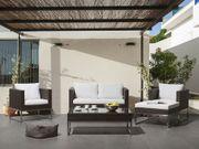 Lounge Set Rattan braun 5-Sitzer