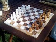 Wunderschönes Schachbrett aus Onyx-Stein