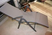 Alu Relaxliegestuhl grau mehrfach verstellbar