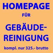 Homepage Webseiten für Gebäudereinigung Reinigungsdienst