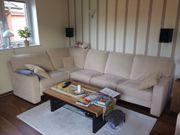 Sitzecke Sessel mit Hocker - beige -