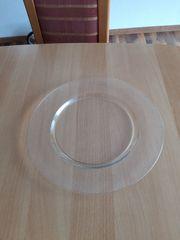 Kuchenplatte rund Glas mit abgesenkter