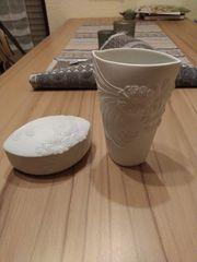 Deckeldose und Vase Kaiser