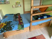 Kinderbett Abenteuer-Bett 90x200cm mit Spielturm