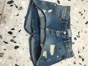 Verkaufe raffinierten blauen kurzen Hosen-Rock