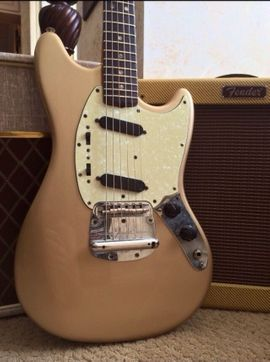1972 vintage fender Mustang Gold Refin (made in USA)