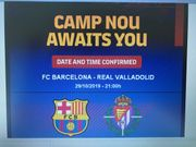 Ticket FC Barcelona - REAL Valladolid