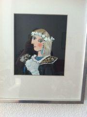 Acrylgemälde Picasso auf Aquarellpapier Mischtechnik