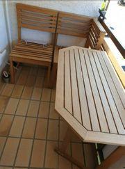 Balkon Set 3 Teilig Eukalyptus-Hartholz