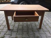 Holztisch Tisch mit Schublade RUSTIKAL