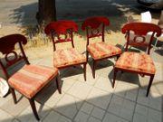 vier Biedermeier Stühle wohl Birke