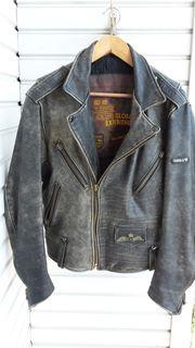 Motorradjacke Leder Gr 52