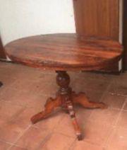 Antiker Biedermeier Tisch Ovalplatte