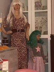 Schaufenster Puppen Frau und Kind