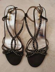 High Heels Stiletto schwarz Strass