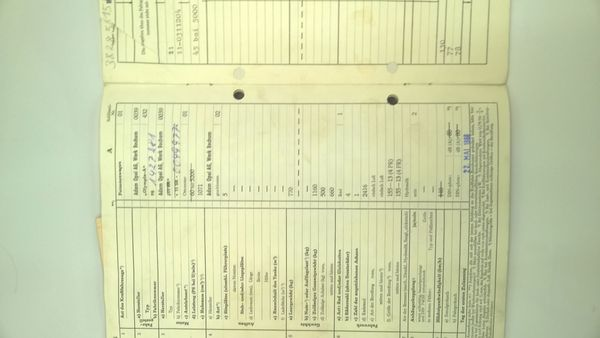 KFZ Brief Original OPEL Olympia