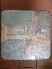 brutalistischer Satztisch Mosaik von Paul