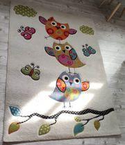 Teppich Eulenmotiv 172x120 cm zu