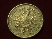 Goldmünze Kaiserreich Mecklenburg-Schwerin 20 Goldmark