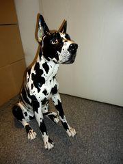 Porzellanhund schwarz weiß