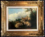 ENGLISCHE SCHULE-Gemälde um 1890 v