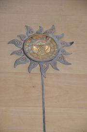 Sonne Gartendeko Metall und Glas