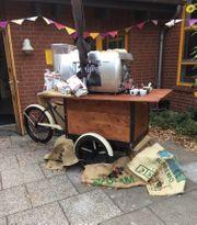 Coffee Bike Hobelbank mit Espressomachine